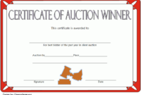 FREE Silent Auction Winner Certificate Template 4