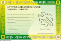 FREE Social Work CEU Certificate Template 1