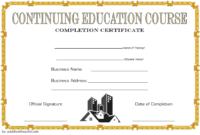 FREE Social Work CEU Certificate Template 3