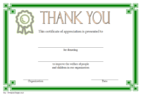 FREE Thank You for Your Donation Certificate Template 1