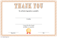 FREE Thank You for Your Donation Certificate Template 2