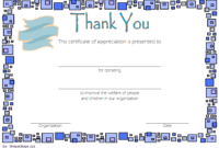 FREE Thank You for Your Donation Certificate Template 3