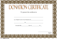 FREE Thank You for Your Donation Certificate Template 4