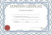 FREE Thank You for Your Donation Certificate Template 5