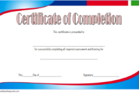 FREE Training Course Completion Certificate Template 1