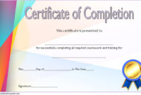 FREE Training Course Completion Certificate Template 2
