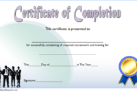 FREE Training Course Completion Certificate Template 3