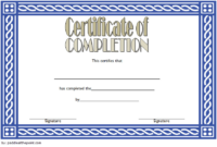 FREE Training Course Completion Certificate Template 4