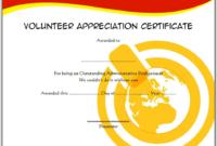 FREE Volunteer Appreciation Certificate Template 1