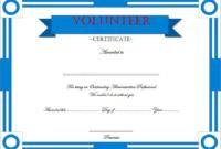 FREE Volunteer Appreciation Certificate Template 2
