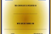 FREE Volunteer Appreciation Certificate Template 3