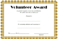 FREE Volunteer Award Certificate Template 4