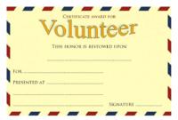 FREE Volunteer Award Certificate Template 5