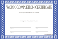 FREE Work Completion Certificate Template 1