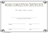 FREE Work Completion Certificate Template 2