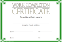 FREE Work Completion Certificate Template 3