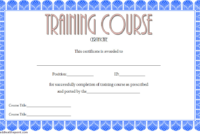 Personal Training Certificate Course FREE Printable 1