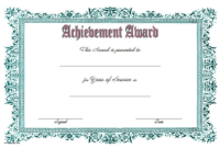 Years of Service Certificate Template FREE Printable 1