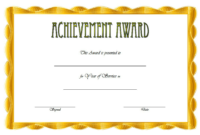 Years of Service Certificate Template FREE Printable 2
