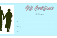 25th Wedding Anniversary Gift Certificate Template FREE 2
