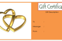 Anniversary Gift Certificate Template FREE