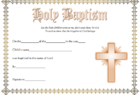 Christening Certificate Template Free 1