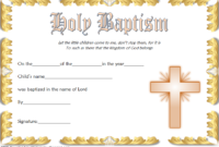 Christening Certificate Template Free 2