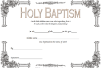 Christening Certificate Template Free 3
