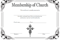 Editable Certificate of Church Membership Template 1
