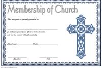 Editable Certificate of Church Membership Template 3