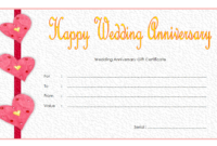 Editable Happy Anniversary Gift Certificate Template 2