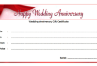 Editable Happy Anniversary Gift Certificate Template 6