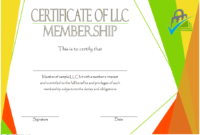 Editable LLC Membership Interest Certificate Template 3