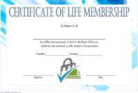 Editable Life Membership Certificate Template FREE 2