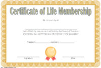 Editable Life Membership Certificate Template FREE 3