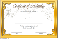 Editable Music Scholarship Certificate Template 1