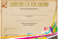 Editable Music Scholarship Certificate Template 2