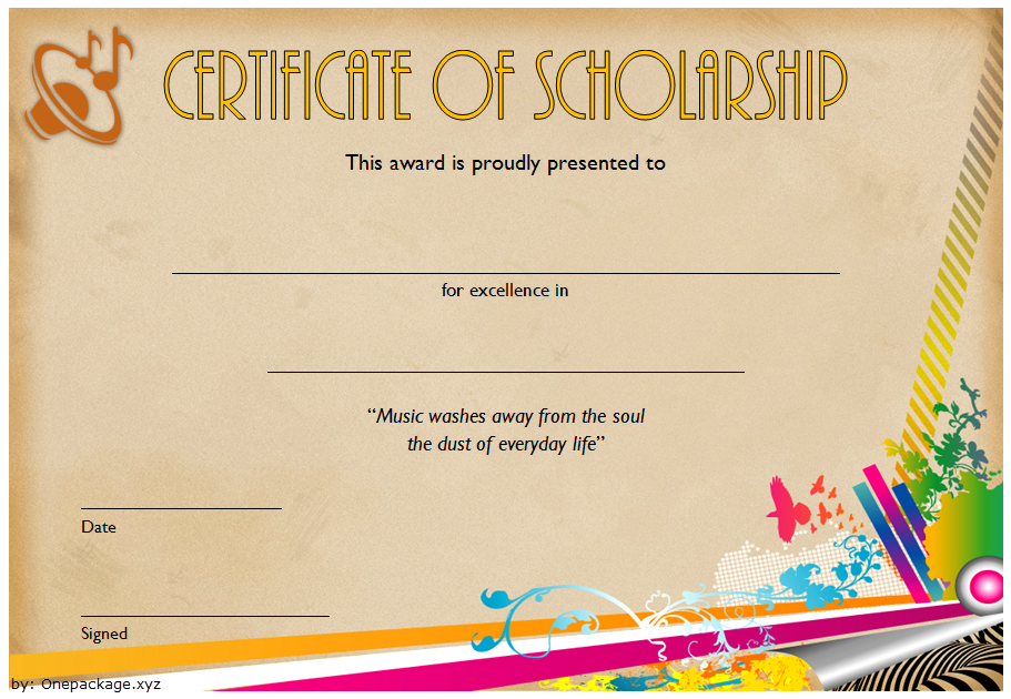 certificate of scholarship, scholarship certificate template, scholarship award certificate template, music scholarship certificate template, college scholarship certificate template, high school scholarship certificate template, memorial scholarship certificate template