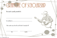 Editable Music Scholarship Certificate Template 3
