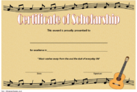 Editable Music Scholarship Certificate Template 4