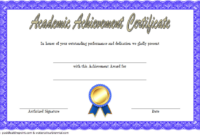FREE Academic Achievement Award Certificate Template 1
