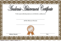 FREE Academic Achievement Award Certificate Template 2