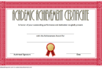 FREE Academic Achievement Award Certificate Template 3