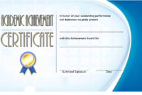 FREE Academic Achievement Award Certificate Template 4