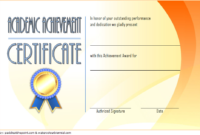 FREE Academic Achievement Award Certificate Template 5