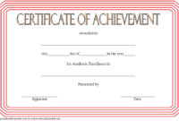 FREE Academic Achievement Certificate Template 1