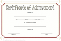 FREE Academic Achievement Certificate Template 2