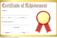 FREE Academic Achievement Certificate Template 4