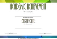 FREE Academic Achievement Certificate Template 5