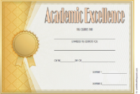 FREE Academic Excellence Award Certificate Template 1